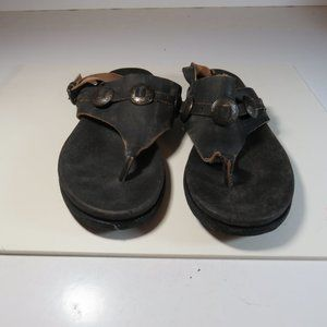 NWOT Musse & Cloud Weather Black Leather Sandals